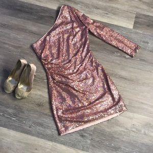 ASOS Pink Iridescent Sequin party girl Dress sz 8